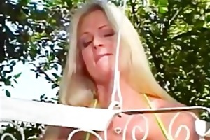 cute mother i drilled outdoors