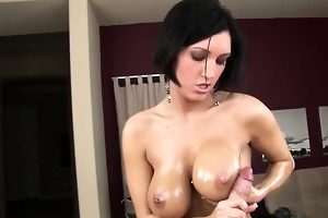 dylan ryder oils up her marvelous 34 dds and