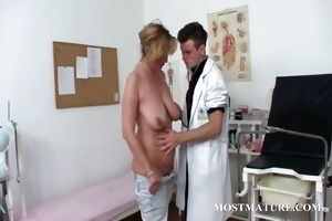 aged mother i acquires cunt checkd at doctor