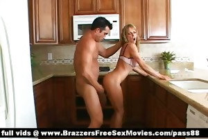 mature blond bitch in the kitchen acquires a