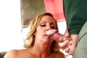 concupiscent older wife get double facial