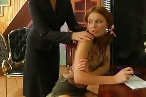 sexcrazy aged playgirl provoking a pretty hottie