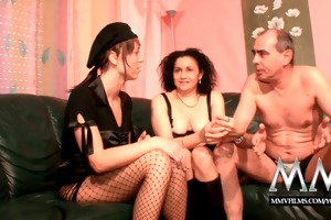 mmv films german older pair disciplined by a