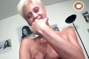 horny golden-haired mum with valuable love melons