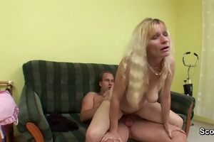 hairy mommy receive screwed by ally of her son