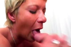 golden-haired aged slut jocks banging