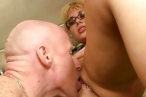 aged pair pissing and fucking