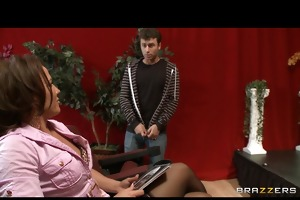 hot brunette hair play director inari vachs