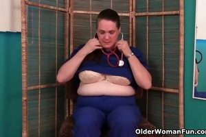 granny nurse takes care of her itching love tunnel
