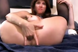 kink naughty cougar daisy plays with her giant