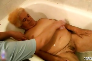 naughty old woman acquires her hairy bawdy cleft