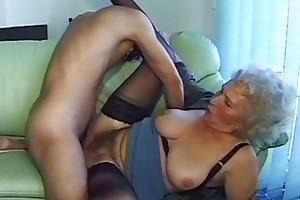 avid old mama acquires large jock