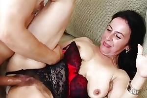 sexhungry granny acquires her curly slit pounded