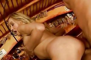 hot granny enjoying sex with juvenile stud