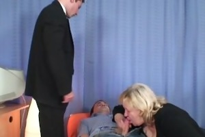 massive titted grandma swallows knobs