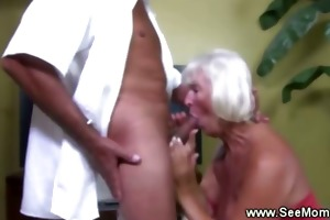 granny goes down on pounder like in the fine old