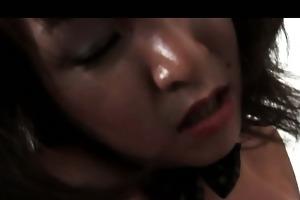 sexually excited undressed jap mama masturbating