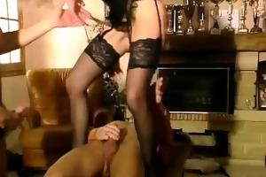 lascivious blond girl in hawt lingerie