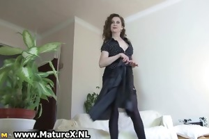 erotic aged lady in hot underware can part4