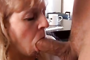 older big beautiful woman gives a great