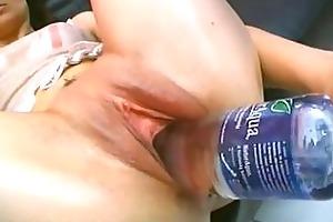 bottles masturbation with daring older dilettante