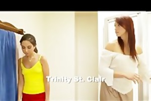 tiny trinity st. clair gets a fellatio lesson
