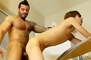 youthful guy receives taught how to fuck by an