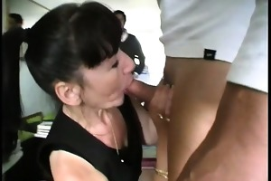martine is a french older group-fucked