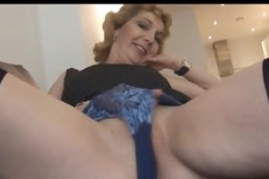 aged english blond honey in nylons upskirt tease