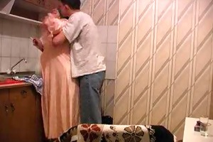 granny acquires drilled in kitchen by her