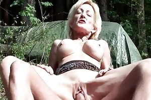 breasty blond granny receives fucked by a