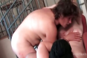 fuckfest older whore taking weenie in mouth and
