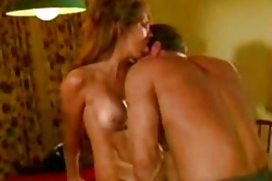 blond mom carol team-fucked on the kitchen table