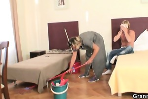 she is pleases him instead cleaning