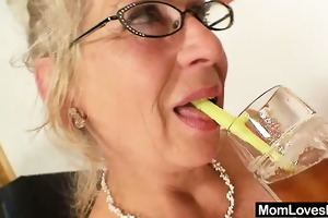 big-titted gramma permeates a madame