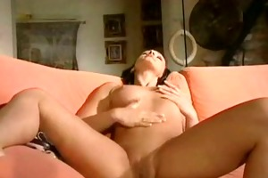 hot mother i acquires laid on sofa