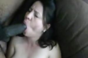 breasty white wife sucks massive darksome weenie