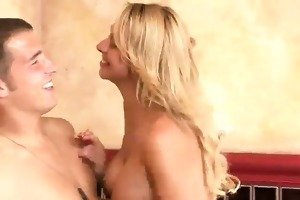 large titted blond older harlot briana engulfing