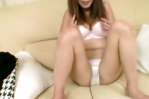 busty oriental cougar getting bare
