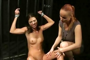 aged dominant-bitch playing with her youthful