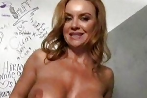 white milf at a brilliance gap