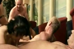 grandmothers takes pecker fuckfest