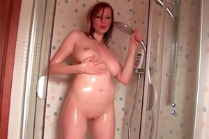 soccer mommy with large pantoons pushing her hand