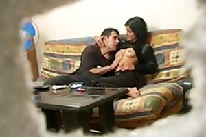 non-professional turkish wife with russian stud