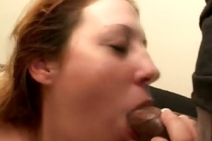 double-blowjob from plump babe