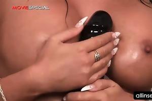 cum-hole vibrator fucking for breasty brunette