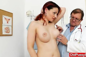 big-breasted matured getting a gyno