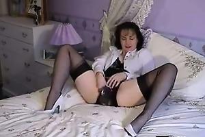 granny in underware masturbating