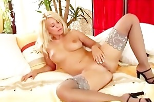 golden-haired d like to fuck in sheer haunch high
