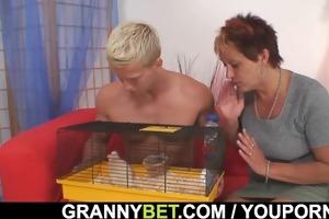 sexy boy screws neighbour granny